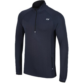 Zone3 Performance Culture Long Sleeve Midlayer with 1/4 Length Zip Men petrol blue